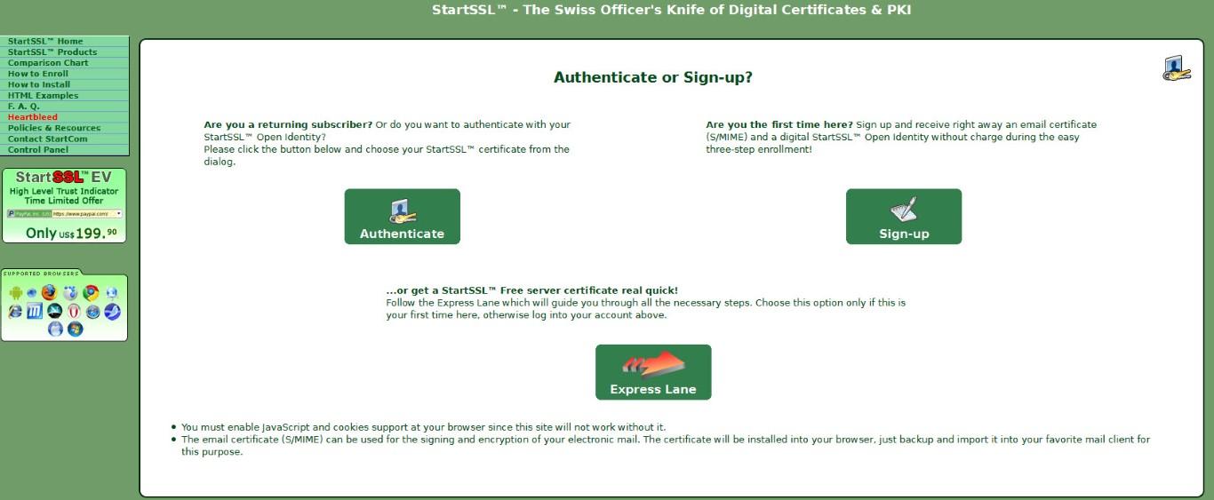 SSL/TLS Certificate using StartSSL and QNAP – Whatcha